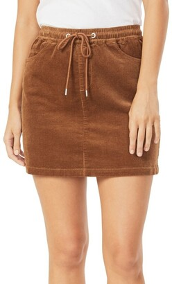French Connection Cord Stretch Casual Skirt