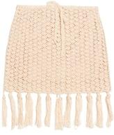 Anna Kosturova Tassel-hemline crochet skirt