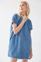 BDG Elastic-Sleeve Denim Mini Dress