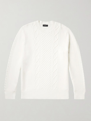 Theory Barten Cable-Knit Sweater