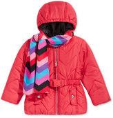 S. Rothschild 2-Pc. Quilted Puffer Jacket & Scarf Set, Toddler Girls (2T-4T) & Little Girls (2-6X)