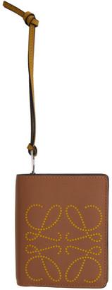 Loewe Tan Brand Compact Zip Wallet