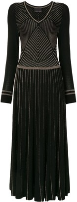 Ginger & Smart Glitter-Striped Knitted Dress