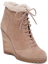 Jessica Simpson Kaelo Leather Lace-Up Wedge Bootie