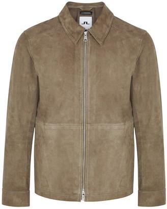 J. Lindeberg Jonah olive suede jacket