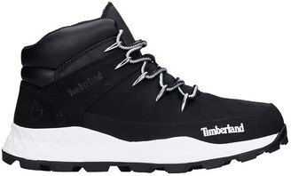 Timberland Combat Boots In Black Suede
