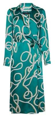 Dorothy Perkins Womens Green Rope Print Wrap Midi Dress, Green