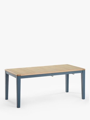 loaf Chow 8-12 Seater Extending Dining Table, Solid Oak/Inky Blue