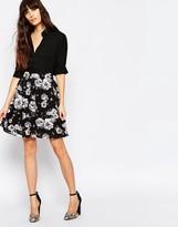 Minimum High Waisted Floral Skirt
