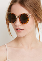 Forever 21 Winged Round Frame Sunglasses