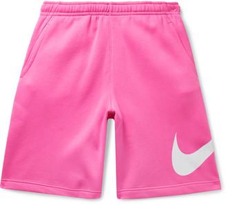 Nike Sportswear Club Logo-Print Fleece-Back Cotton-Blend Jersey Shorts