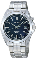 Seiko Ska267p1 Kinetic Bracelet Strap Watch, Silver/blue