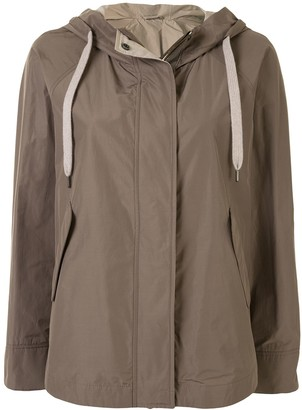 Brunello Cucinelli Long-Sleeve Hooded Jacket