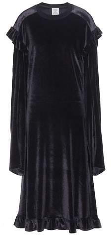 Vetements Ruffled velvet dress