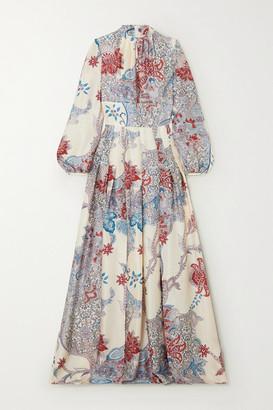 Raquel Diniz Alma Printed Silk-satin Maxi Dress - Blue