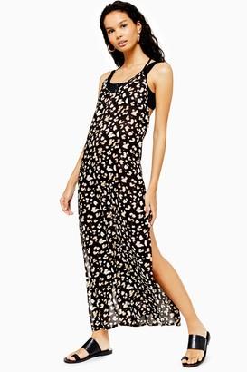 Topshop Womens Tie Dye Spot Maxi Dress - Multi