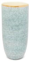 AERIN Calinda 18kt Gold-rimmed Ceramic Vase - Blue Multi