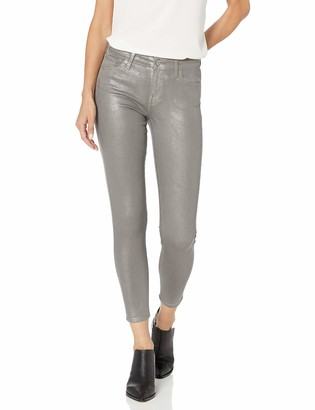 Lucky Brand Women's MID Rise AVA Skinny Jean in Grey Coated 31 (US 12)