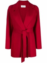 Thumbnail for your product : P.A.R.O.S.H. Belted-Waist Wool Coat