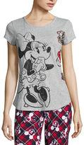DISNEY MICKEY MOUSE Disney Short Sleeve Pajama Top-Juniors
