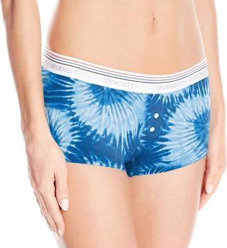 2xist Women's Retro Cotton Boy Short Underwear