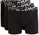 Topman Black Angle Waistband Hipster Underwear 3 Pack