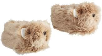 Pottery Barn Kids Fur Bear Slipper, Brown, Small