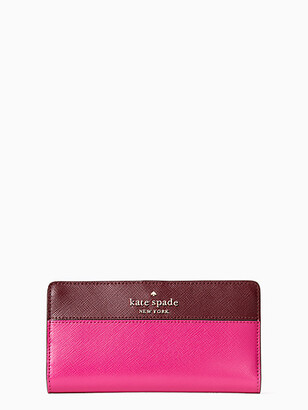 Kate Spade Staci Colorblock Large Slim Bifold Wallet