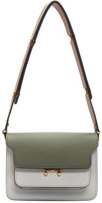 Marni Green and Grey Mini Trunk Bag