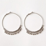 Large Hoops With Metallic Beads