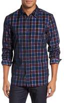 French Connection Plaid Corduroy Sport Shirt