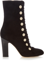 Jimmy Choo Malta 100mm suede ankle boots