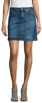 AG Adriano Goldschmied The Ali A-Line Denim Skirt, Indigo Plain Skirt