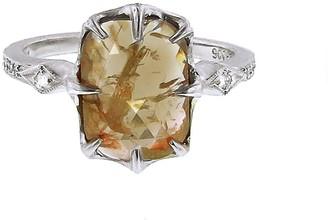 Cathy Waterman Fine Rustic Diamond Platinum Ring
