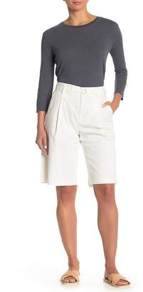 Vince Belted Twill Bermuda Shorts