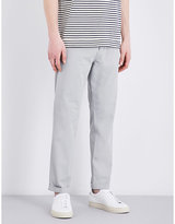 Closed Tapered Mid-rise Stretch-cotton Chinos