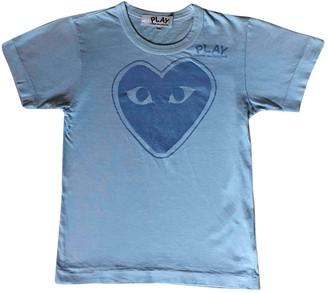 Play Comme Des Garã§Ons Play Comme Des GarAons Blue Cotton T-shirts