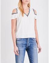 Maje Lisea cold-shoulder crepe top