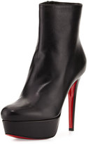 Christian Louboutin Bianca Leather 120mm Red Sole Bootie, Black