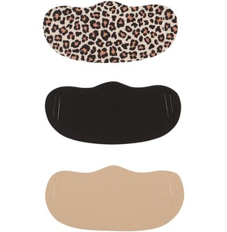 Mandmdirect.Com Womens Three Pack Face Masks Animal Print/Nude/Black
