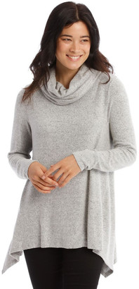 Regatta Roll Neck Asymmetrical Hem Long Sleeve Tee