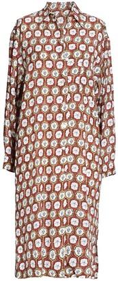 AILANTO Starfish Coral Shirt Dress