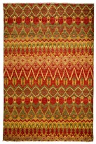 Solo Rugs Bohemian Ikat Hand-Knotted Wool Area Rug