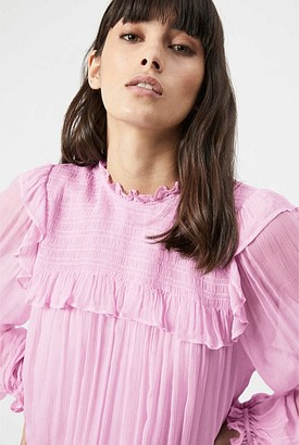 Witchery Shirred Frill Blouse