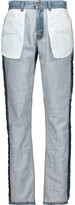 Moschino Inside out high-rise straight-leg jeans