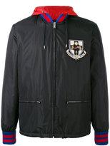 Gucci hooded bomber jacket - men - Polyamide/Virgin Wool - 48