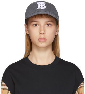 Burberry Grey Logo Baseball Cap