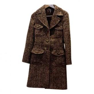 MANGO Brown Tweed Coat for Women
