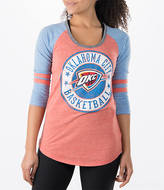 New Era Women's Oklahoma City Thunder NBA Tri-Blend 3/4 Sleeve Scoop T-Shirt