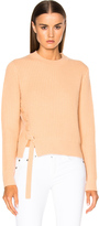Proenza Schouler Wool Cashmere Side Lacing Sweater